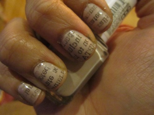 finished product - newspaper nails
