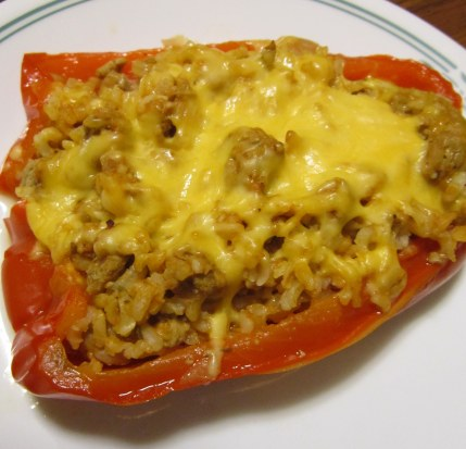 turkey stuffed pepper
