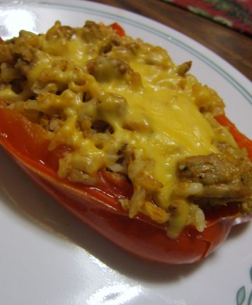 stuffed pepper with cheese