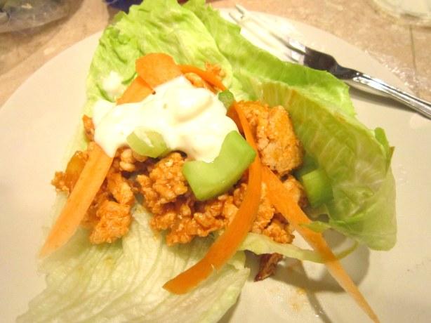 Buffalo Turkey Lettuce Wraps