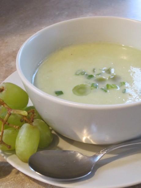 Chilled White Grape Gazpacho