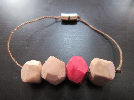 Faceted Clay Bead Bracelet