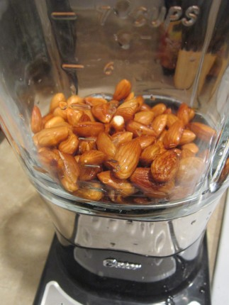 Soaked Almonds in Blender