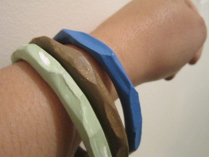 Faceted Clay Bangles
