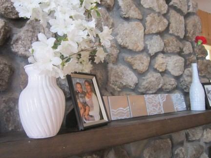 Lace Tiles on Mantle