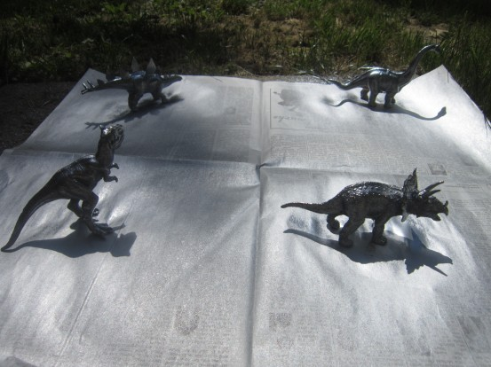 Spray Painted Dinosaurs
