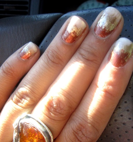 Gold Ombre Manicure