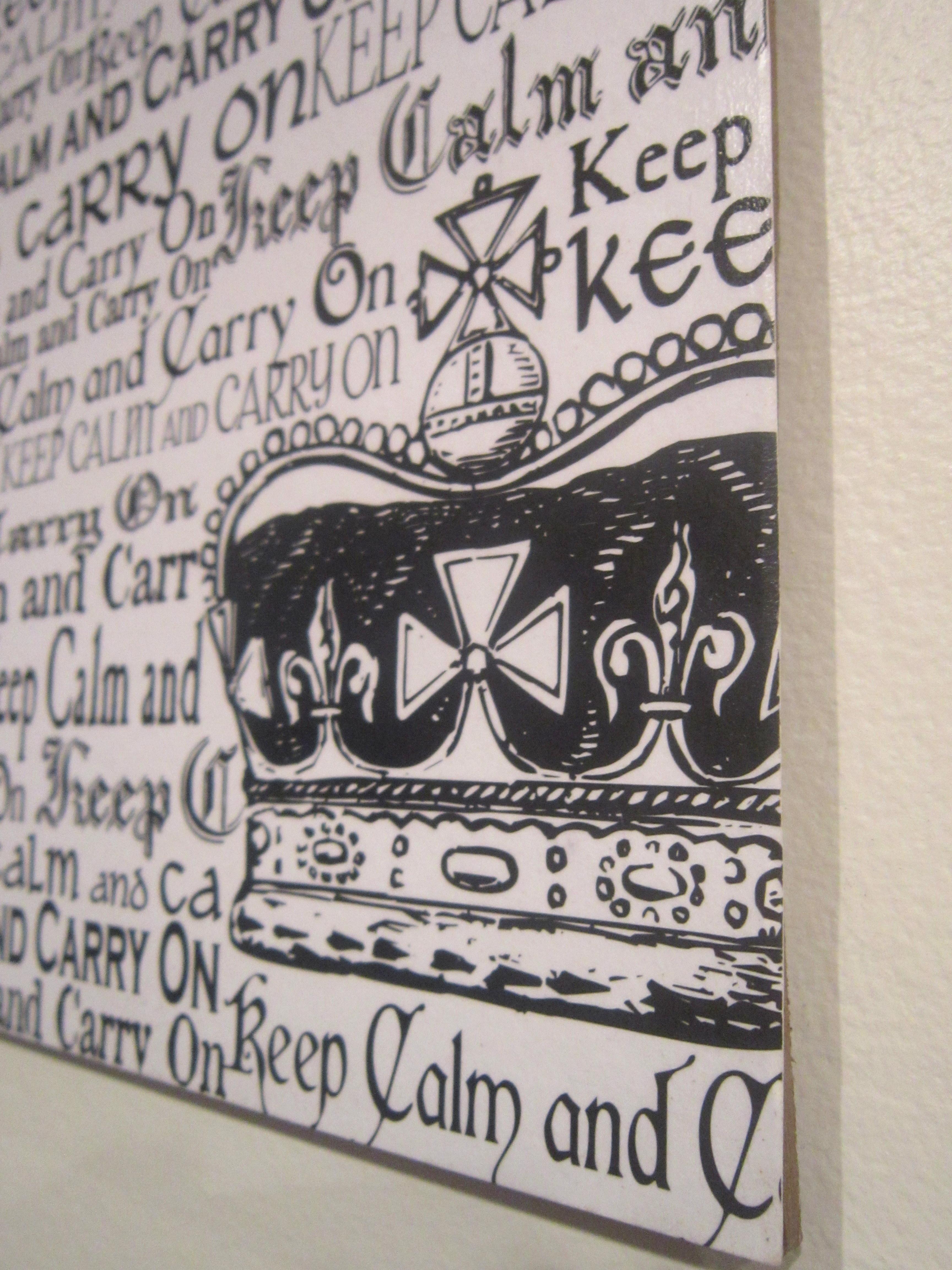 Scrapbook paper wall art - Keep Calm Scrapbook Paper Scrapbook Paper Wall Decoration