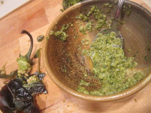 Poblano Pepper Pesto