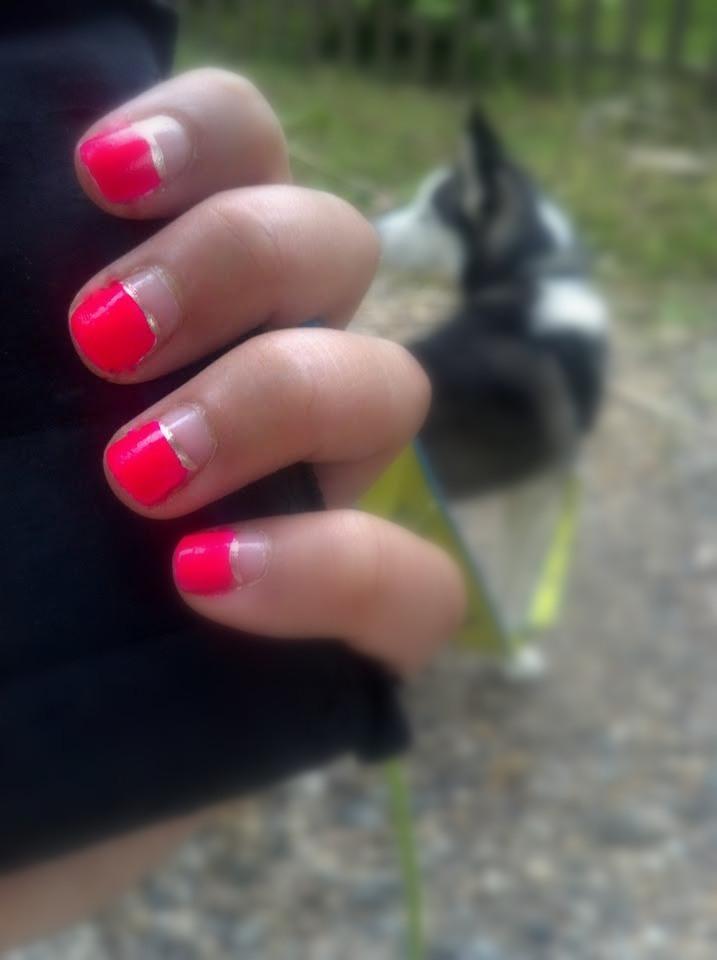 Half Neon Nails
