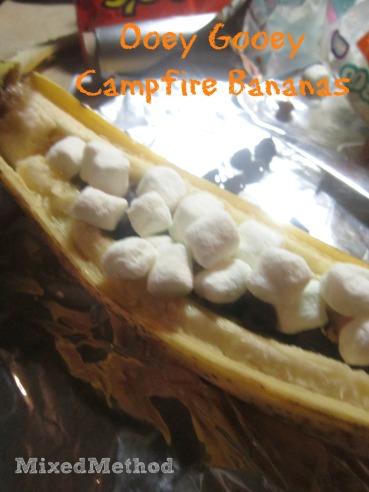 Ooey Gooey Campfire Bananas