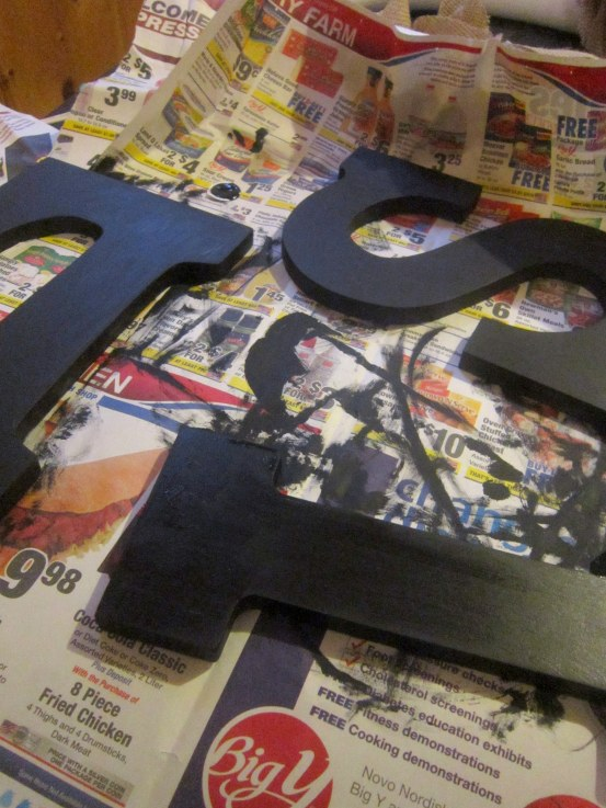 Block Letters Painted Black