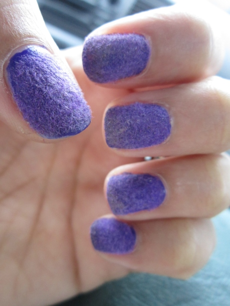 DIY Purple Velvet Mani