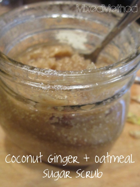 Coconut Ginger and Oatmeal Sugar Scrub