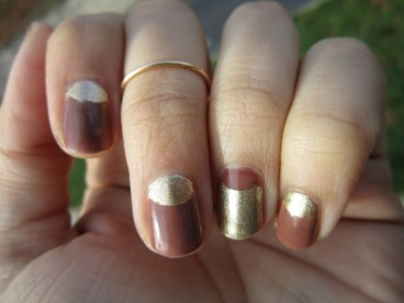 Brown and Gold Thanksgiving Mani