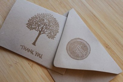 Thank You Card by Green Monster Boy