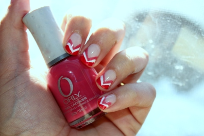 Valentine's Day French Tip Mani