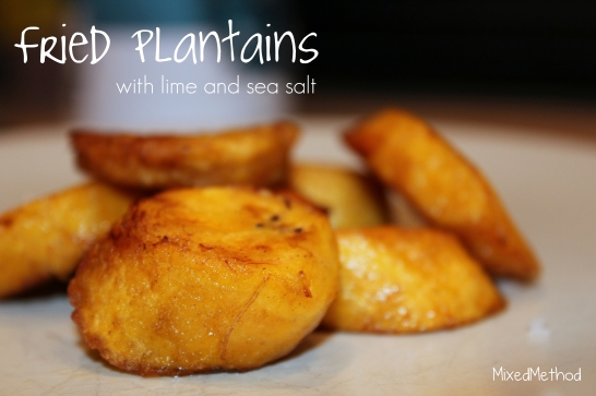Fried Plantains with Lime and Sea Salt
