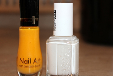 Milani Yellow and Essie Mashmallow