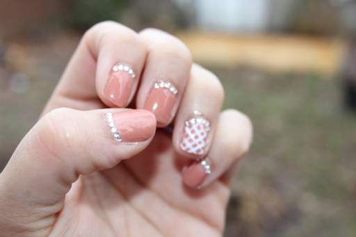 Nude Mani with Crystals