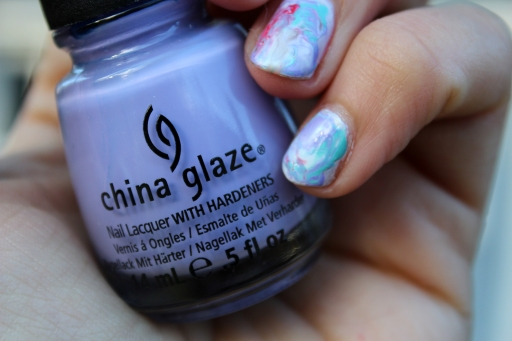 watercolor marble mani