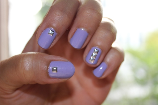 Pastel Purple Mani with Studs