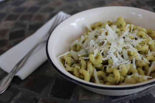 Fusilli Pasta with Avocado Cream Sauce