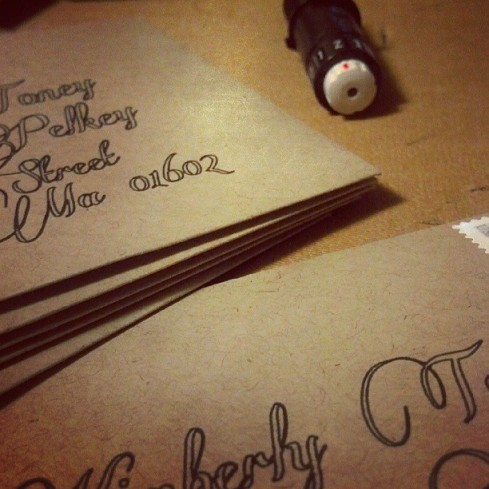 Fake Calligraphy Envelopes