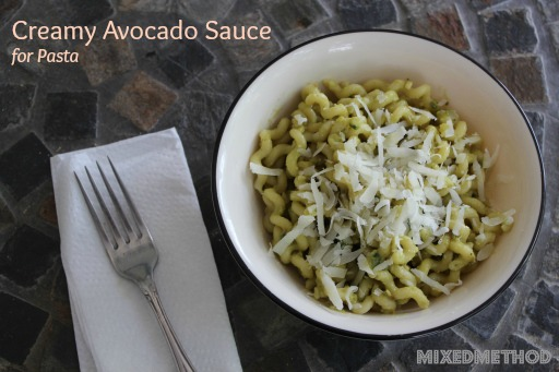Pasta with Creamy Avocado Sauce