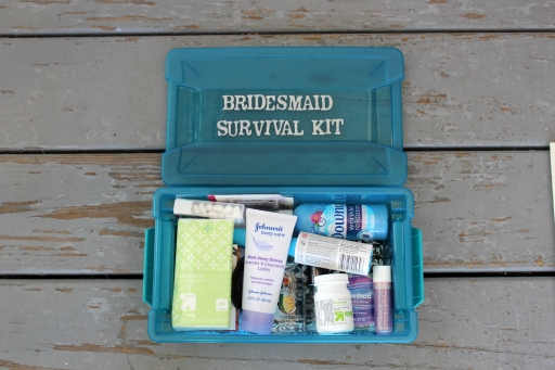 Inside the Bridesmaid Survival Kit
