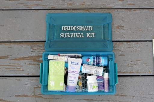 Inside the Bridesmaid Survival Kit