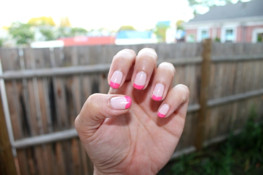 Pink French Tip Gel Manicure