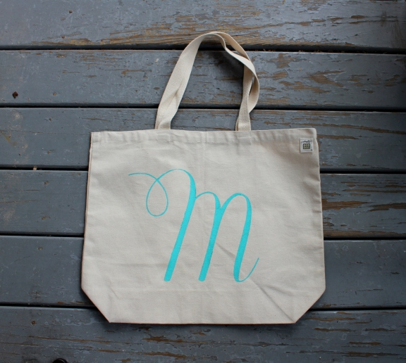 DIY Monogrammed Tote Bag