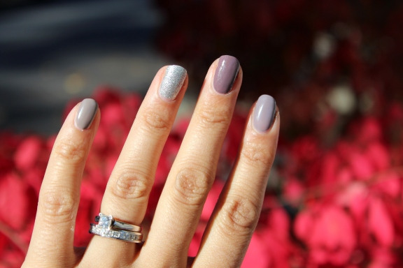 Purple Neutral Ombre Mani