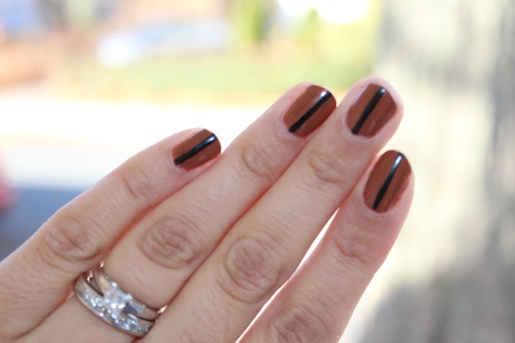 Brown/Black Stripe Mani