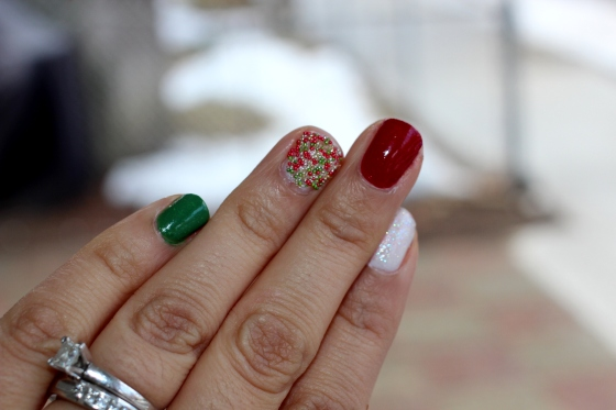 Christmas Caviar Nails