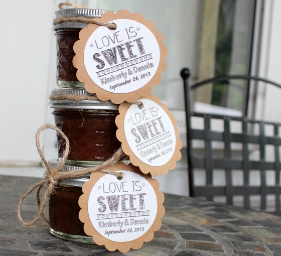 Apple Butter Jars with DIY Labels