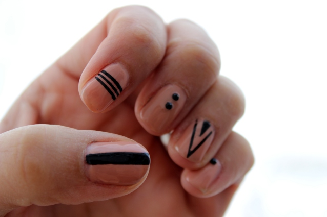 Nude and Black Mani