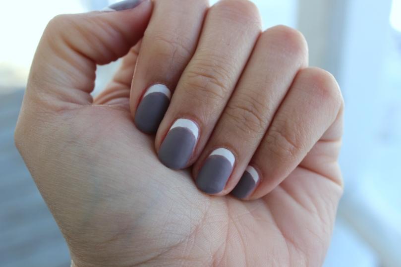 Matte Half Moon Manicure