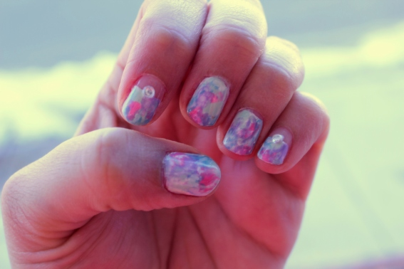 Pastel Watercolor Nails