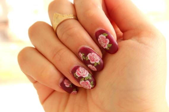 Flower Water Decal Nails