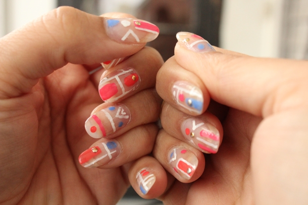 Clear Tribal Nails