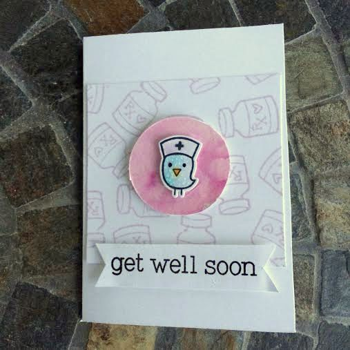 Get Well Soon Stamped Card
