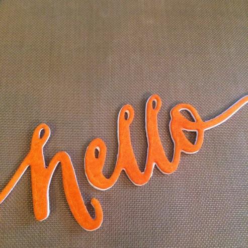 Orange Hello
