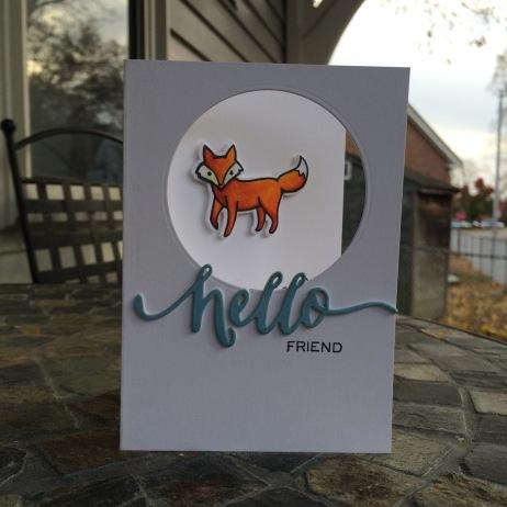 Hello Foxy Friend Card