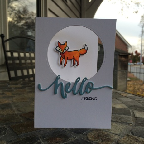 Hello Foxy Friend Card