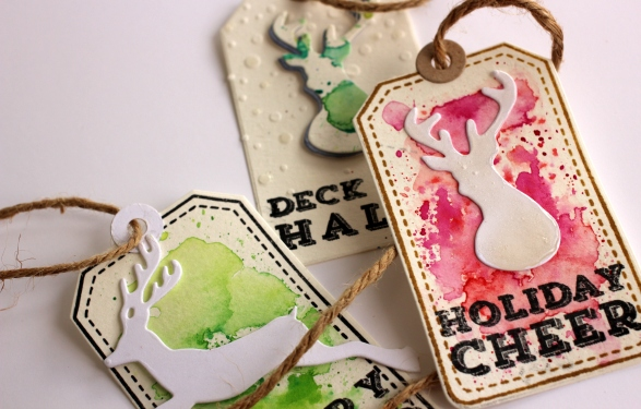 Water Colored Gift Tags