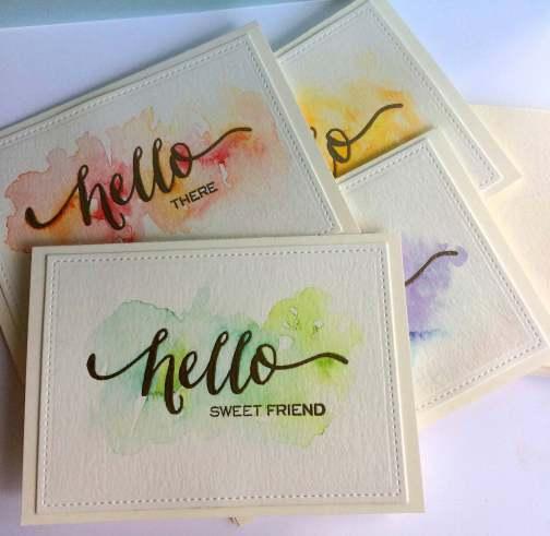 Watercolor Card Sets