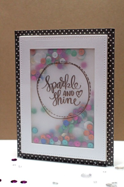 Sparkle and Shine Shaker Card