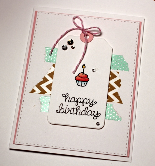 Lawn Fawn Birthday Tags Card